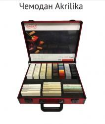 Чемодан с образцами (AkrilikaStone, Kristall, Design) МОДЕЛЬ 2020, красный
